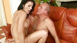 Nasty Teen Riding Old Cock