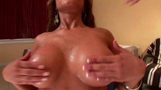 Pretty Pornstar Uses Her Huge Breasts To Seduce