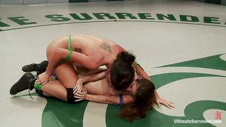 Lesbian Chicks Wrestling For Supremacy