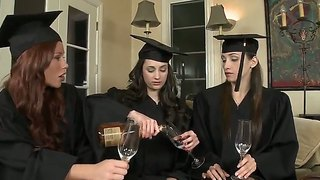 The Graduation Lesbian Fucking With Brooklyn And Celeste