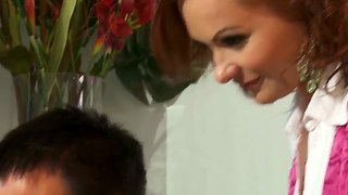 Redhead Cougar Katja Kassin Takes On Young Stud