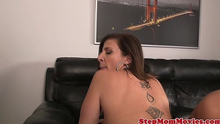 Stepmom Sharing Cock With Offspring In Ffm Action
