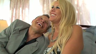Mature Blonde Grace Evangeline Fucks With 2 Men