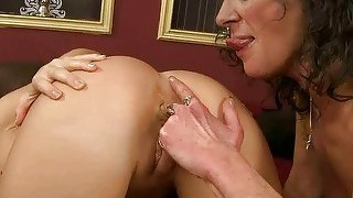 Granny And Teen Making Love