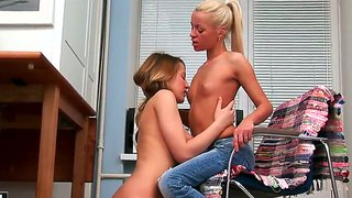 Blonde Cybill Gets Tongue Fucked By Gloria Miller The Way She Loves It