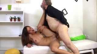 Cute Girl Having Sex With Old Beard Man