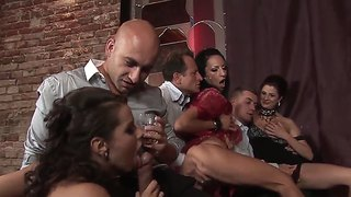 Angie Is Bemusing In Private Porn Club Party