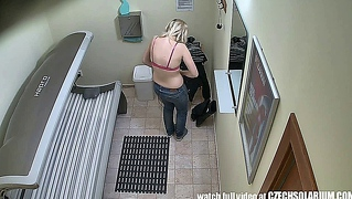 Hidden Camera In Public Tanning Bed