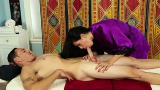 Sixty Nine With Masseuse On Table