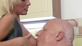 Pretty Teen Fucking With Fat Grandpa
