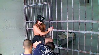Nasty Police Woman Eliska Cross Fingers Her Wet Pussy After She Strips Making An Intimate Lick Her Stiletto