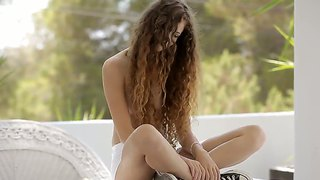 Cute Long Haired Teen Vanessa Gets Naughty