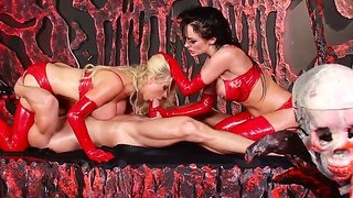 Alektra Blue,johnny Sins And Nikki Benz In Wild Threesome Femdom Porn Session