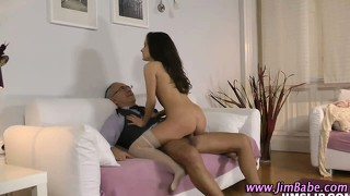 Amateur Teen Rammed By Old Guy