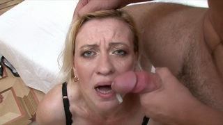 Mature Whore Pampers Two Young Cocks