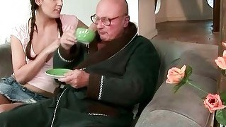 Beautiful Teen Loves Grandpa