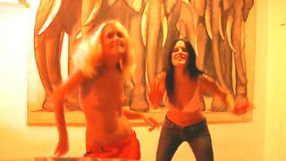 Sensual Babes Mia And Sasha Are Pelasing With A Super Hot Lesbian Softcroe Action