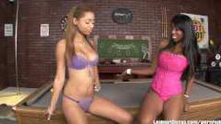 Black Babes Licking Each Other On A Pool Table