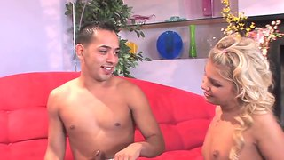 Slutty Pale Teen Aubrey Addams Rides On Her Boy