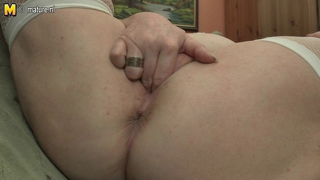 Chubby Mom Playing With Her Dildo