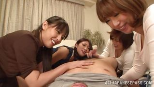 Lucky Guy Gets Four Girls To Himself