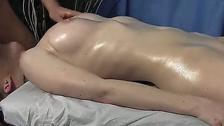 Fair Skinned Doll Lora Got An Oiling Tits And Pussy Massage That Made Her Wild And Hungry