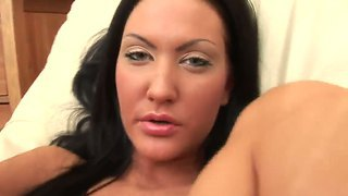 Black Haired Temptress Shaylee Stretching Her Big But Sensitive Pussy