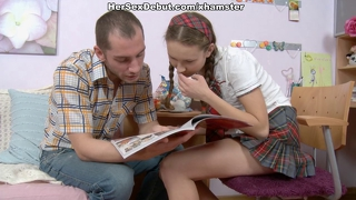 Naive Schoolgirl In Her First Hard Anal Porn Video