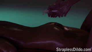 Oiled Strapon Play