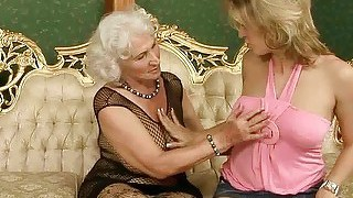 Granny Enjoys Sex With Young Beauty