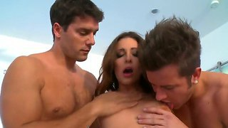 Gracie Glam Is Very Horny And These Two Huge Cocks Are Pleasing Her Very Much