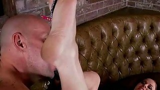 Cute Girl Gets Her Feet Worshipped