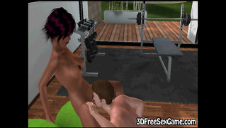 Hot 3D Cartoon Ebony Babe Gets Licked And Sticked