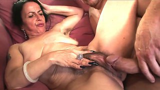Jay Huntington Fucking Hard His Mature Neighbor Miss Nina Swiss In Her Hairy Pussy