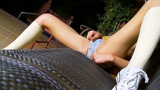 Lithe Teen Babe Ivana Is Working Her Clit