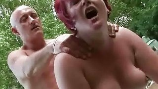 Fat Grandma Gets Fucked Hard Outdoor