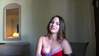 Barely Legal Babe Brooke Enjoys Her First Time Blowing A Huge Hard Cock Until She Tatse Warm Load