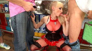 Sofia Valentine Gets Drilled By Three Horny Guys