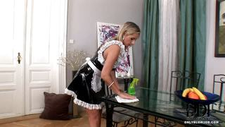 French Housemaid Cleans Cock