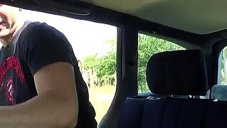 Horny Couple Hitchhikes To Have A Sex