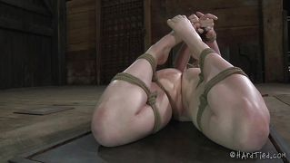 Blonde Hogtied And Humiliated Like A Whore