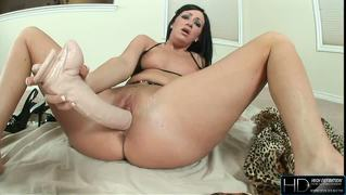 Awesome Hd Video With Brunette Stuffing Pussy With Huge Toys