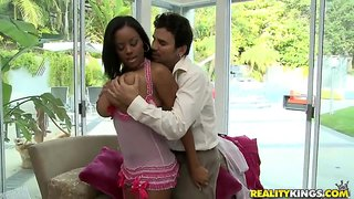 Busty Ebony Model Alia Starr Needs A Hard Dick
