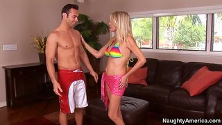 Flamboyant Blonde Milf Bridgett Lee Seducing Young Jack Cummings