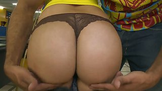 Cute Laura Demonstrates Big Round Ass And Fucks Hard After Playing Billiard With Her Friend