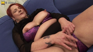 Anal Play With Banana With Chubby Mature Mom