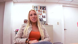 The Blond Milf Jaime Appelgate Comes For Audition