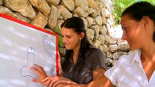 Outdoor Lesbian Affair Of Cunning Adria And Sweet Mia