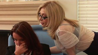 Milf Nina Hartley Seduces Busty Babe Rachel Steele