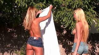 Blue Angel, Lesbian Action And Outdoors Too!